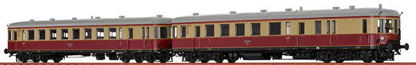 Brawa 44718 - 2pc German Railcar VT137+VS145 of the DRG (DCC Sound Decoder)