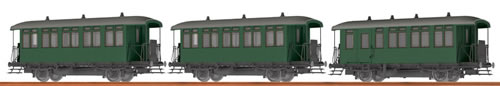 Brawa 45635 - Austrian 3pc Passenger Coach Set of the ÖBB