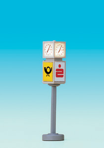 Brawa 4574 - N Clock with advertising cube