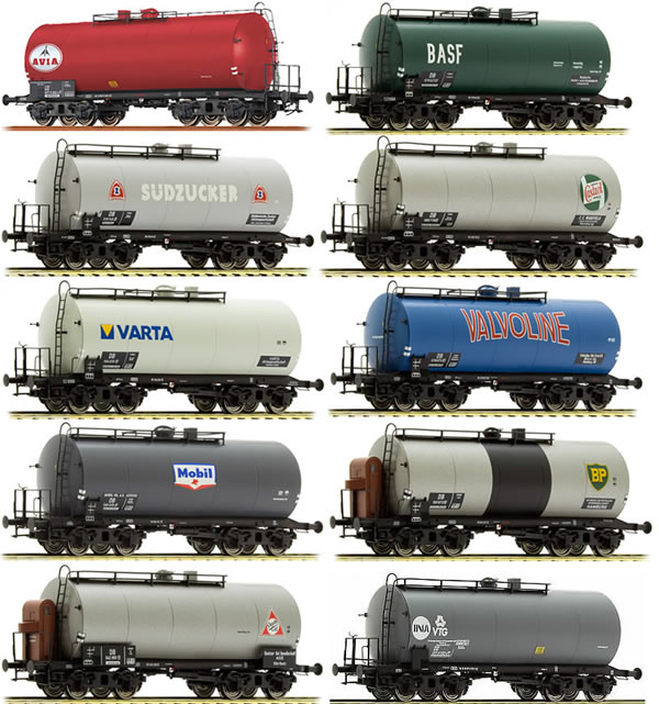 Brawa 45902 - 2016 Toyfair Dealer 10pc Tank Car Set