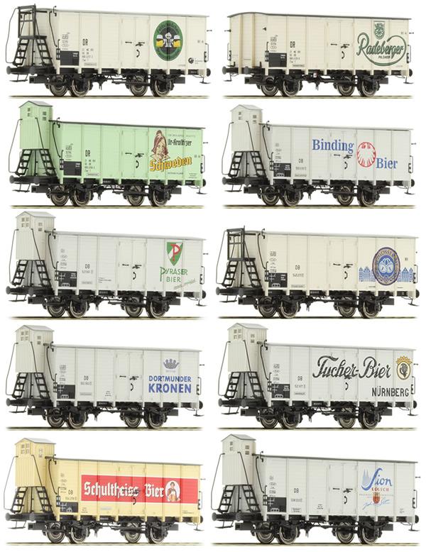 Brawa 45905 - 10pc Freight Car Set G10