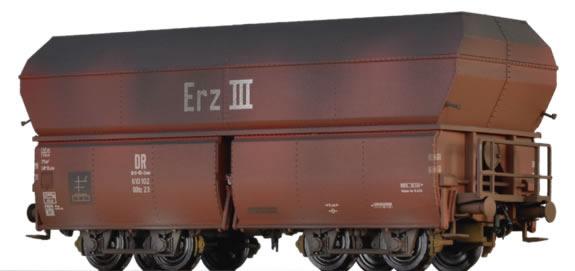 Brawa 45909 - German 10 Piece Weathered Self Unloading Coal Car Set of the DB