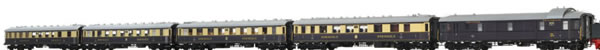 Brawa 45916 - Rheingold Express Train Coach Set DRG, 5-unit