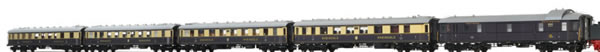 Brawa 45917 - Rheingold Express Train Coach Set DRG, 5-unit