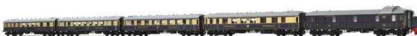 Brawa 45919 - Rheingold Express Train Coach Set DRG, 5-unit (Sound Decoder)
