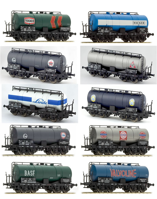Brawa 45998 - German DB Era III Limited 2015 Toyfair Tank Car Set