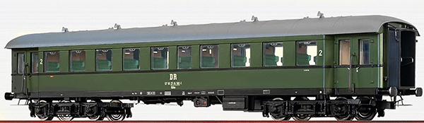 Brawa 46160 - German Passenger Coach Bye-36/50 of the DR