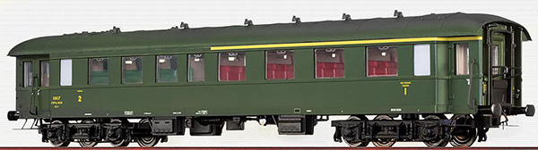 Brawa 46162 - French Passenger Coach AB4yse-37/57 of the SNCF