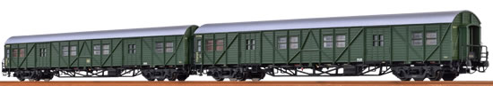 Brawa 46252 - German 2 Piece Luggage Car Set (MPw4i & MPw4yge) of the DB