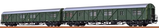 Brawa 46252 - German 2 Piece Luggage Car Set (MPw4i & MPw4yge) of the DB