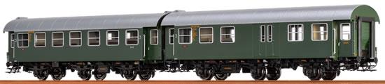 Brawa 46302 - 2pc Passenger Coach Set B3yg and BPw3yg DB