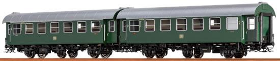Brawa 46303 - 2pc Passenger Coach Set B3yg DB