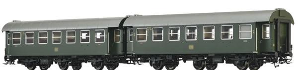 Brawa 46306 - 2pc Passenger Coaches B3yge Set
