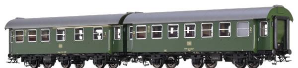 Brawa 46310 - German 2 Piece Passenger Car Set (AB3yge & B3yge) of the DB