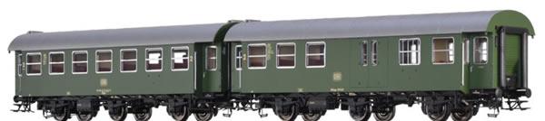 Brawa 46311 - German 2 Piece Passenger Car Set (B3yge/BD3yge) of the DB