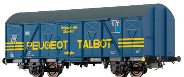 Brawa 47267 - German Covered Goods Wagon Gos-uv253 Peugeot Talbot of the DB