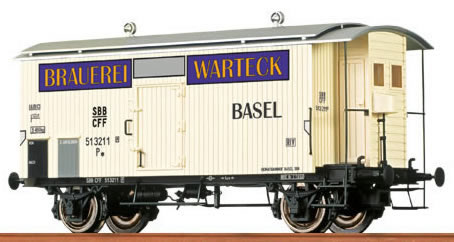 Brawa 47808 - Covered Freight Car Warteck Bier SBB