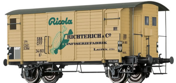 Brawa 47853 - Covered Freight Car K2 Ricola