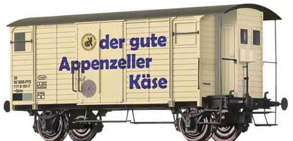 Brawa 47860 - Covered Freight Car Gklm Appenzeller Käse