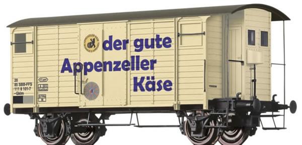 Brawa 47860 - Covered Freight Car Gklm Appenzeller Käse