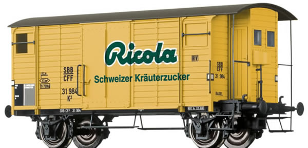 Brawa 47862 - Covered Freight Car K2 Ricola
