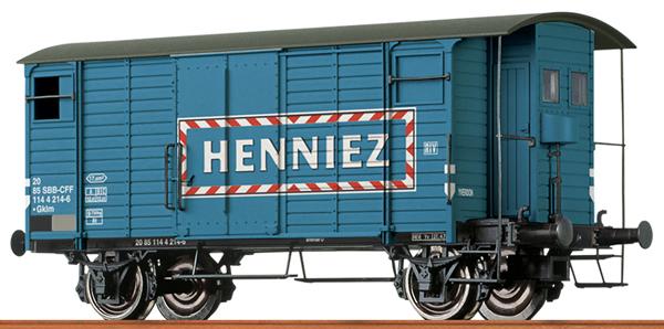 Brawa 47871 - Swiss Box Car Henniez of the SBB