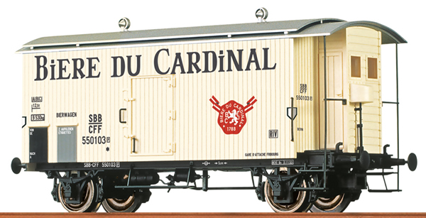 Brawa 47872 - Swiss Beer Car Biere du Cardinal of the SBB