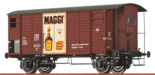 "Brawa 47874 - SBB COVERED FREIGHT CAR K2 ""MAGGI"" Road no.: 45 312"