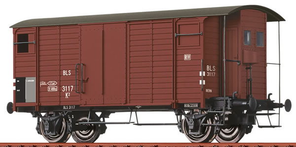 Brawa 47881 - Swiss Covered Freight Car K2