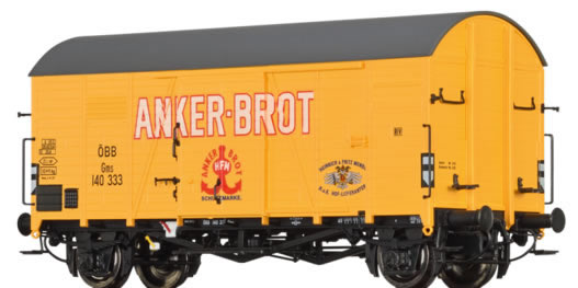Brawa 47940 - Austrian Covered Goods Wagon Anker Brot of the OBB