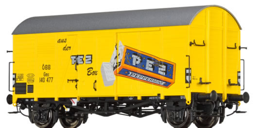Brawa 47941 - Austrian Covered Goods Wagon Gms 30 PEZ of the OBB
