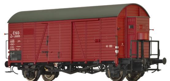 Brawa 47942 - Czechoslovakian Covered Goods Wagon Zr of the CSD