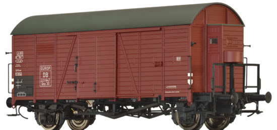 Brawa 47949 - German Covered Goods Wagon Gms 30 Europ of the DB