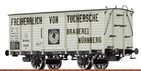 Brawa 48034 - Covered Freight Car G Freiherrlich von Tuchersche Brauerei Nurnberg