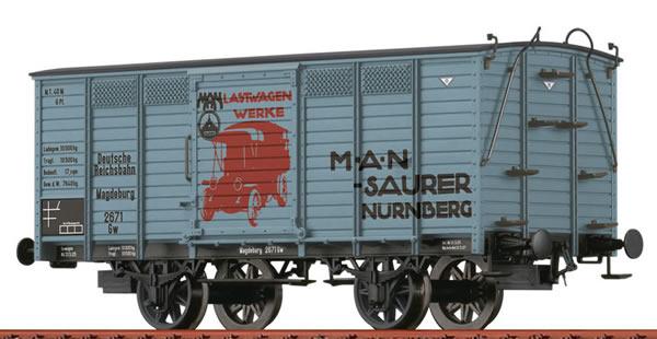 Brawa 48036 - German Covered Freight Car Gw MAN