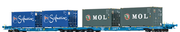 Brawa 48104 - HO Container Car Sffggmrrss D