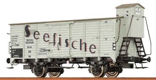Brawa 48284 - Covered Freight Car G 10 Wärmeschutzwagen Seefische DRG