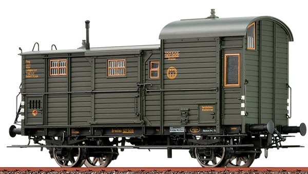 Brawa 48364 - Luggage Car Pwg 12