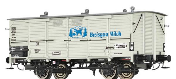 Brawa 48669 - German Covered Freight Car Gh 03 Breisgau Milch
