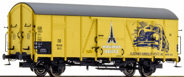 Brawa 48715 - Covered Freight Wagon Glr23 Magirus Deutz