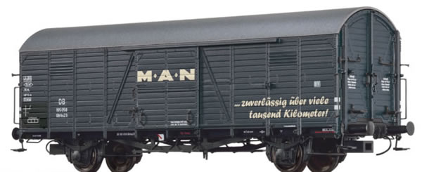 Brawa 48718 - German Covered Goods Wagon Gltrhs 23 MAN of the DB
