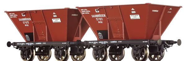 Brawa 48802 - 2pc Coal Cars Otr(u)