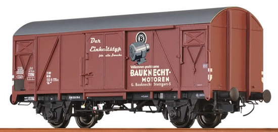 "Brawa 48818 - Covered Freight Car Gms 54 ""Bauknecht"" DB"