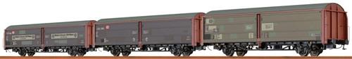 Brawa 48952 - German 3pc Sliding Wall Car Set Hbis 297 and Hbis 299 Maisel Bayreuth of the DB