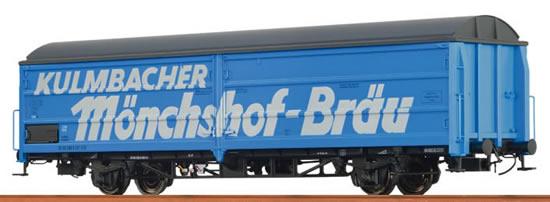 """Brawa 48964 - Sliding Wall Car Hbis 299 """"Kulmbacher Mönchshof Bräu"""" DB"""