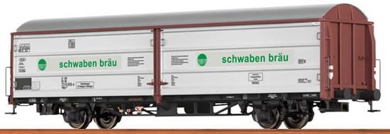 "Brawa 48975 - Sliding Wall Car Hbis ""Schwabenbräu"" DB AG"