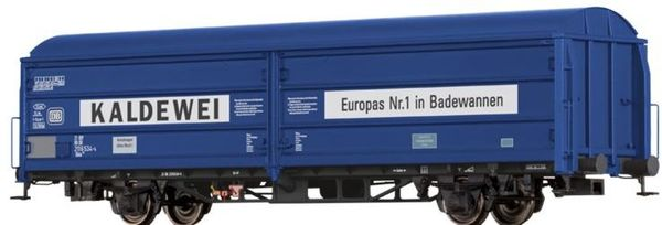 Brawa 48984 - German Sliding Wall Freight Car Hbis 299 Kaldewei of the DB