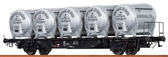 Brawa 49109 - Container Car Btmms 58 DB, with Ddikr 621