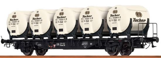 Brawa 49112 - Container Car Btmms 58 DB, with Ddikr 621 Tucher