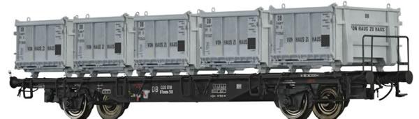 Brawa 49120 - Container Car BTmms58 Von Haus zu Haus